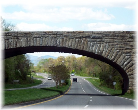 Blue Ridge Parkway bridge 4/9/10