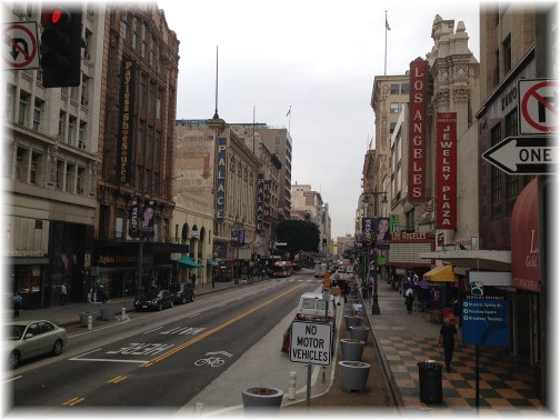 Broadway Street in Los Angeles