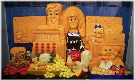 Cheese sculpure at Indiana State Fair