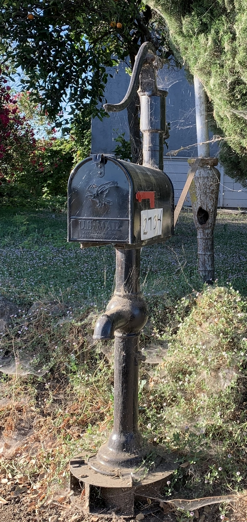 Pump mailbox in Solano County California 7/23/19