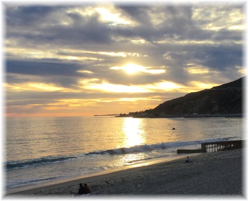 California sunset at Santa Monica  3/13/15 (This photo will enlarge if clicked)