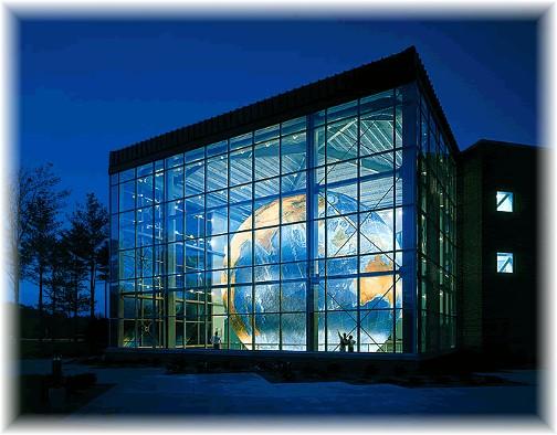 Eartha globe at the DeLorme Map Company