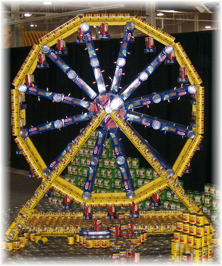 Ferris wheel made of cans at Indiana State Fair
