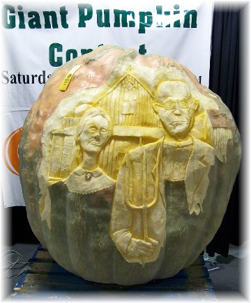 Giant carved pumpkin