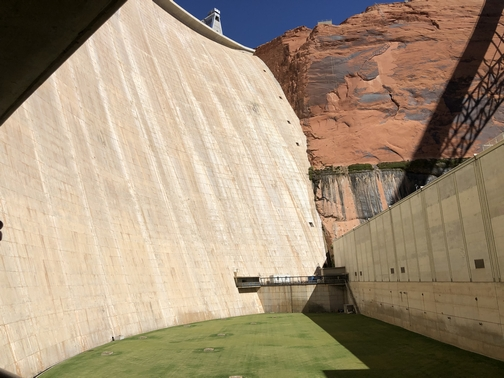 Glen Canyon Dam from below 9/27/19