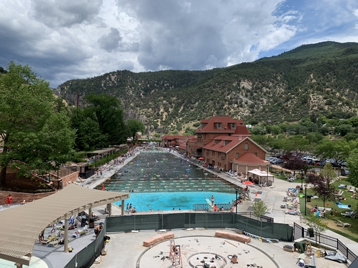 Glenwood Hot Springs pool, CO 7/26/19 (Click to enlarge)