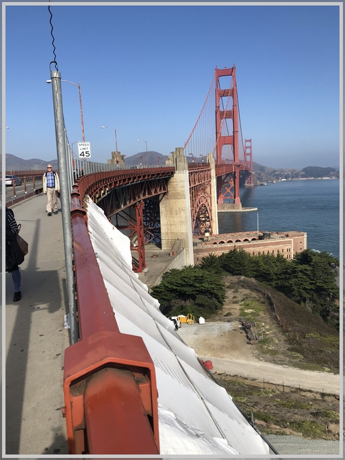 Golden Gate Bridge walkway (10-18-18)