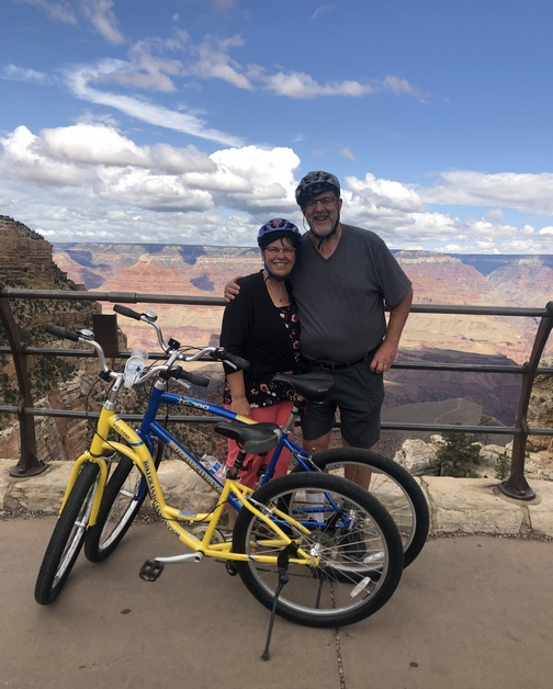 Biking at the Grand Canyon 9/26/19 (Click to enlarge)
