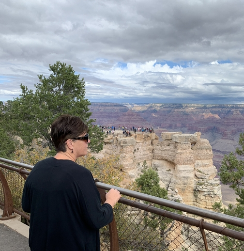 Brooksyne's first view of the Grand Canyon 9/26/19