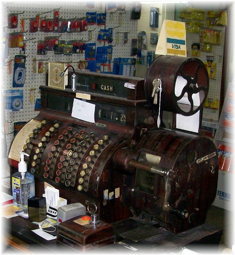Hardware store cash register in Greensburg Indiana