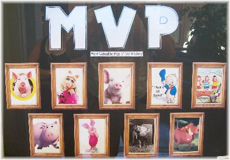 Indiana State Fair MVP pig display