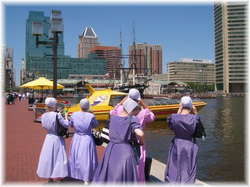 Speed boat ride on Baltimore's inner harbor