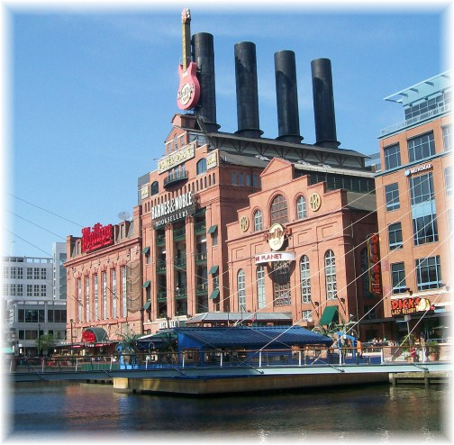 Re-purposed power plant in Baltimore's inner harbor