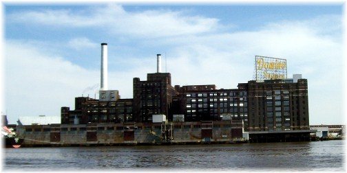 Domino sugar plant in Baltimore's inner harbor