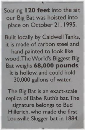 Louisville Slugger baseball bat info 7/8/13