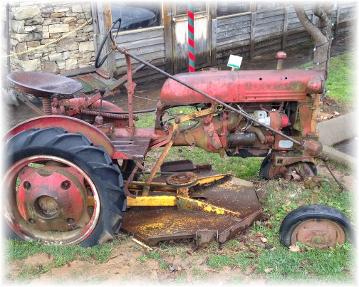 Old tractor at Loveless Cafe near Nashville 11/28/15