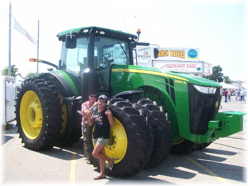 Ohio State Fair John Deere tractor 8/12
