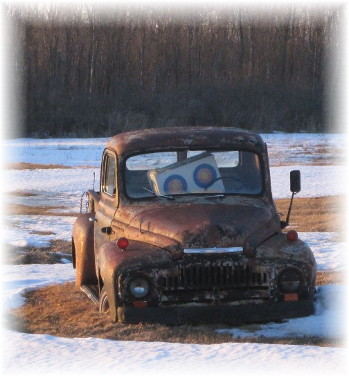 Old truck in field in north central New York