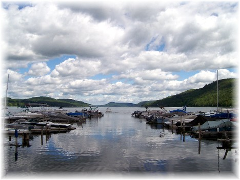Otsego Lake from Cooperstown, New York