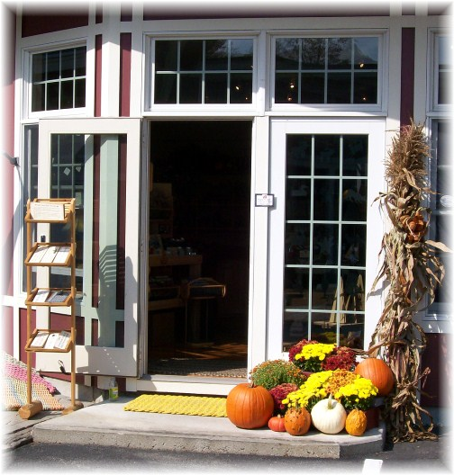 Store entrance in Peterborough New Hampshire