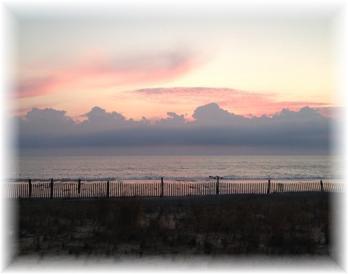 Sunrise over Atlantic Ocean Rehoboth Beach DE 10/9/15