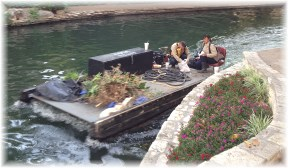 San Antonio River Walk work boat 4/30/14