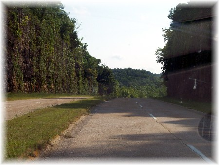 Stretch of Route 66 in Pulaski County Missouri