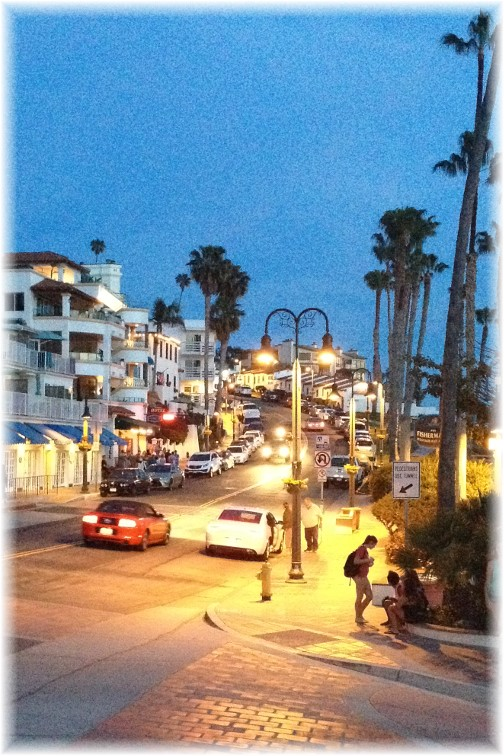 Dusk scene in San Clemente California