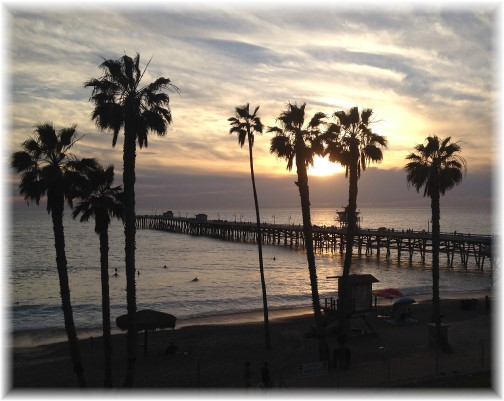 Sunset in San Clemente California