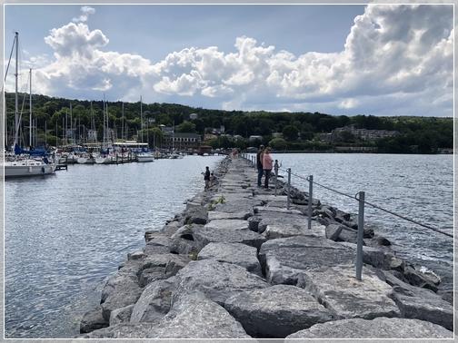 Seneca Lake jetty, New York 7/28/18