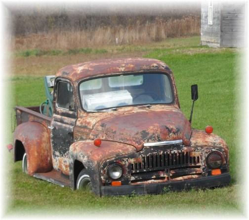 Sunken truck in rural New York