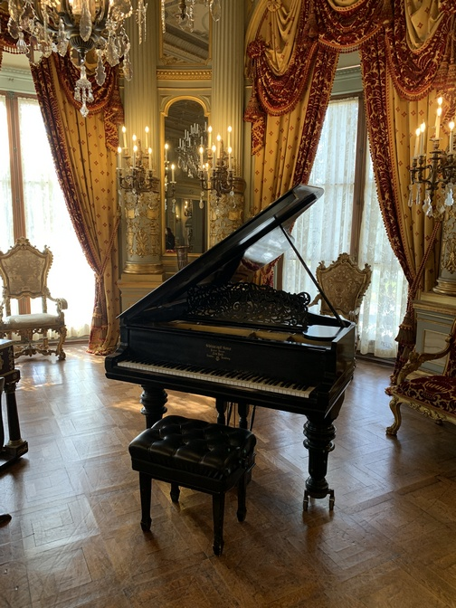 "Steinway piano in ""The Breakers"" mansion, Newport, RI"