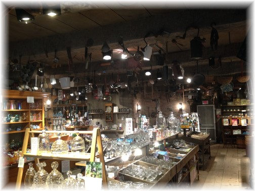Wheaton Arts general store interior 7/15/14