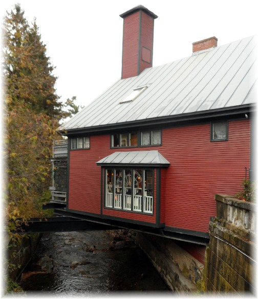 Store built over creek in Woodstock Vermont
