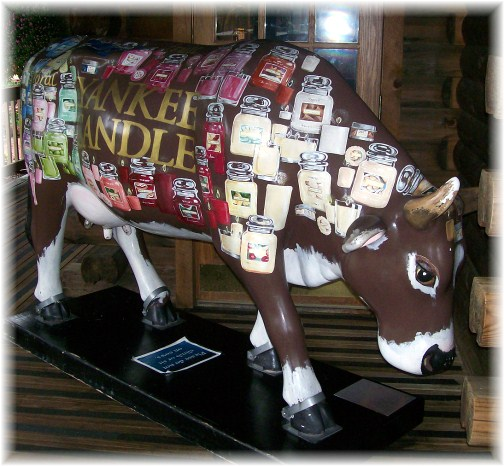 """Cow"" at Yankee Candle flagship store, South Deerfield, Massachusetts"