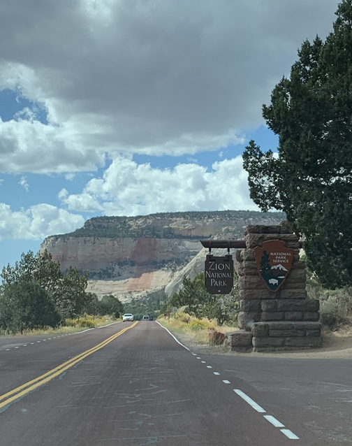 Entering Zion National Park 9/28/19