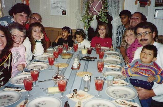 Weber family 1988 Thanksgiving