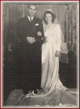 Mom and Dad wedding photo, October 17, 1944