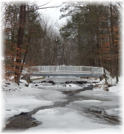 Conodoquinet Creek winter mountain stream in Pennsylvania 2/9/15