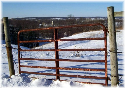 Gate along Rissermill Road, Lancaster County PA 1/13/11