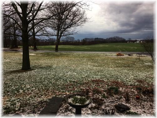 """Hail """"snow"""" 2/25/17"""