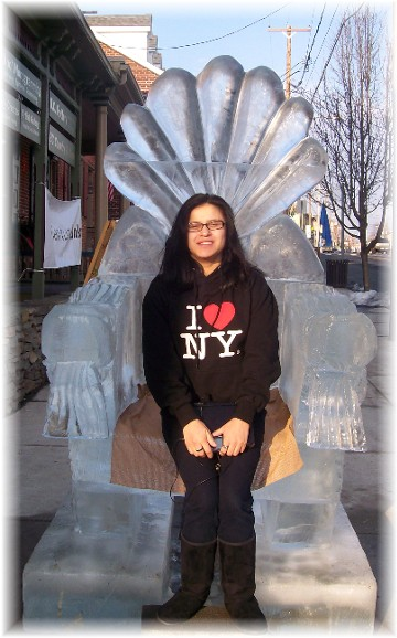 Ester with ice sculpture seat