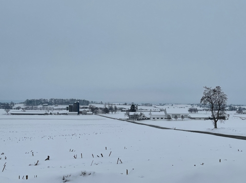 Lancaster County snow view
