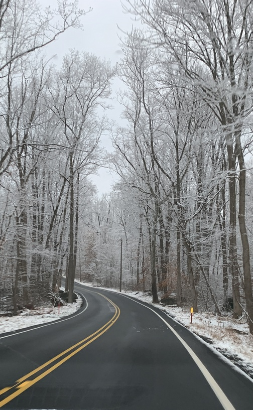 Colebrook Road in snow, Lebanon County, PA 12/4/19