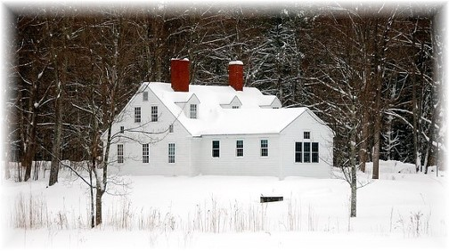 Winter scene in Eastern Maine (photo by Doris High)