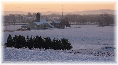 Sunrise from the Martin farm 12/6/09