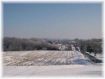 Winter scene, Mastersonville PA 12/6/09