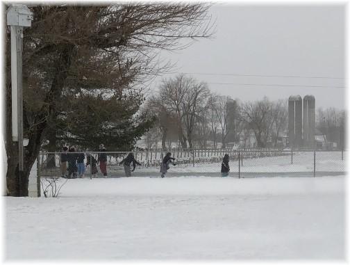 Mennonite girls ice skating 1/4/18