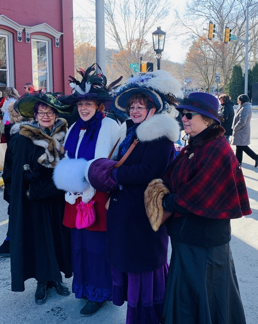 Victorian ladies in Wellsboro, PA 12/7/19