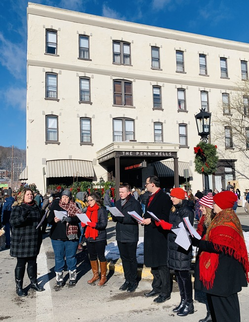 Dickens of a Christmas singers in Wellsboro, PA 12/7/19